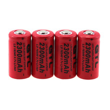 10 PCS GTL CR123A 2300mah Rechargeable Li-ion Battery 3.7V 16340 CR123 lithium-ion Batteries for Flashlights , Toys ect(China)