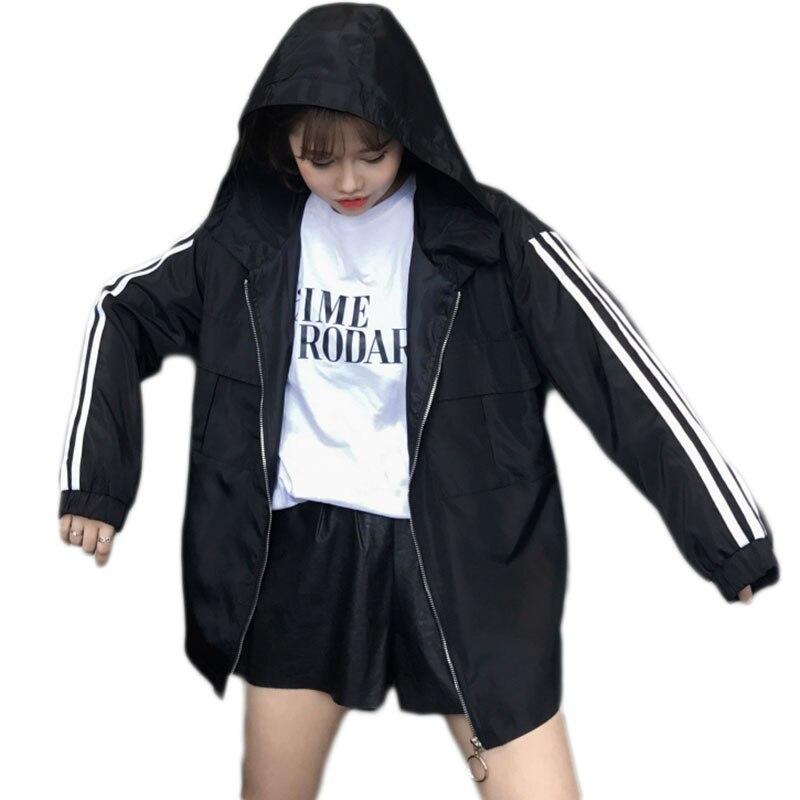 2018 frühling Herbst Bomber Jacke Frauen Männer Tops paar Lange Hülse Grundlegende Mantel Beiläufige Dünne Oberbekleidung Koreanische Hip hop Bomber jacke