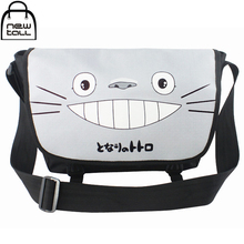 [NEWTALL] My Neighbor Totoro Anime Characters Cartoon Canvas Single Shoulder Cross Body Satchel Bag Messenger Bag A1075(China)