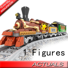 483pcs AlanWhale Classical Steam Locomotive Trains Locomotive Model Building Blocks Bricks Playset Railway Compatible With Lego(China)