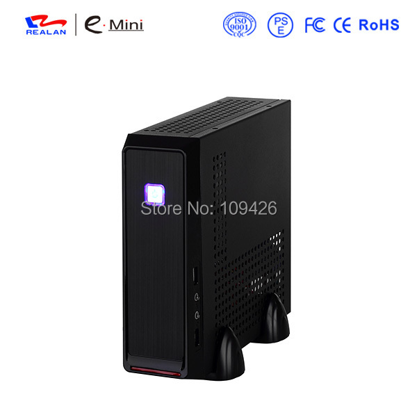 Realan Emini 3019 Mini ITX Htpc Computer Case With Power Supply, SECC 0.6mm, 2.5 HDD 3.5 HDD, Small Htpc Cases(China)
