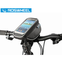 Roswheel Cycling Bike Handlebar Bag Bicycle Phone Pouch Waterproof Cycle Front Top Frame Cover Case Sport Road MTB accessory - QianNi Sporting Store store