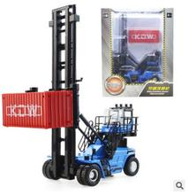 New KDW 625049 1:50 Container stacker kids toy track car model alloy Boxed cargo ship freighter terminal transport city lift boy