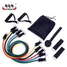 Buy Fitness Resistance Bands Workout Pull Rope Latex Tubes Body Training Pedal Exerciser Crossfit Fitness Equipment 11pcs/set for $20.32 in AliExpress store