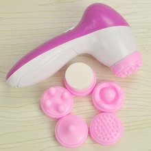 Deep Clean 5 in 1 Electric Facial Cleaner Skin Care Brush Massager Scrubber