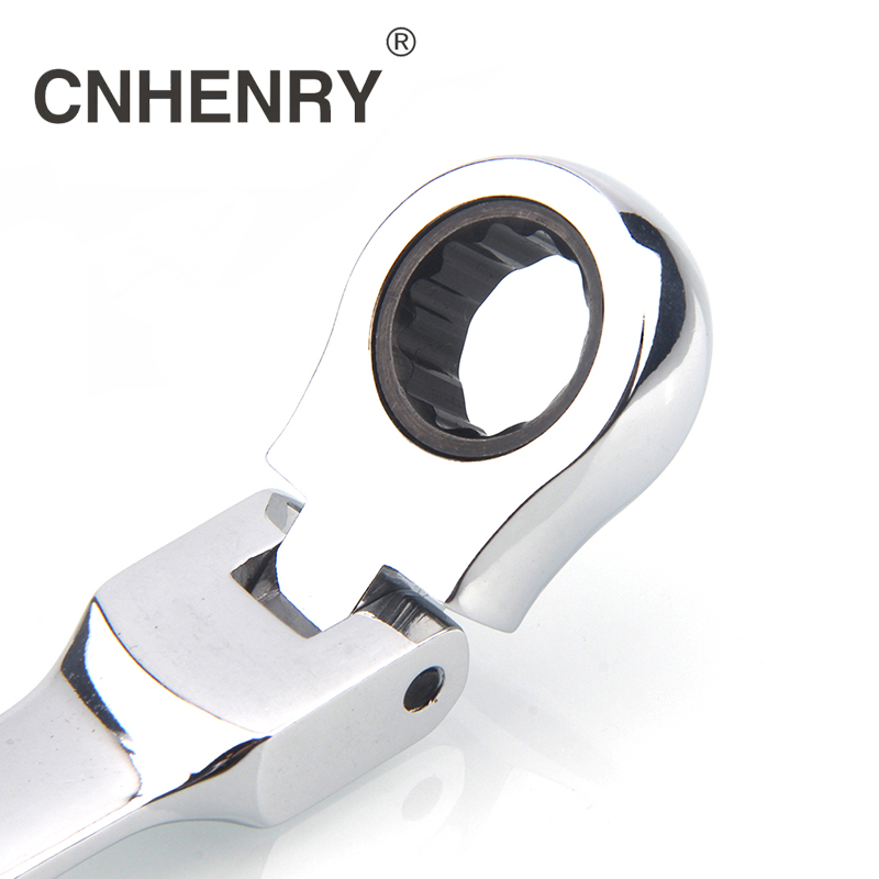 One Piece 8-25mm Flexible Reversible Head Combination Ratchet Wrench Universal Keys Wrenches  Car Tools For Auto Repair