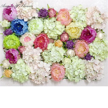 DIY artificial peony flower heads silk decorative flower DIY Road led wedding flower Bouquet hotel background wall decor 100pcs