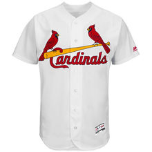 MLB Men's St. Louis Cardinals Baseball Home White Flex Base Authentic Collection Team Jersey(China)