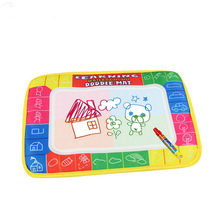 2016 hot sale Drawing Toys  29X19cm 4 color Water Drawing Toys Mat Aquadoodle Mat&1 Magic Pen/Water Drawing board/baby play mat