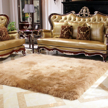 Pure wool carpet rug bed blankets sheepskin carpet fur one piece sofa cushion blanket Wool mat Tea table mat Doormat living room(China)