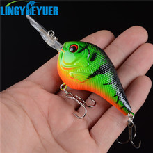 Rushed 2015 hot sale 1pcs hard plastic crankbait carp fishing tackle 3d eyes bait wobbler japan