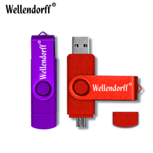Wholesale USB Flash Drive 64GB High Speed Pendrive Smart Phone External Storage OTG Pen Drive 8GB 16GB 32GB Android USB Stick