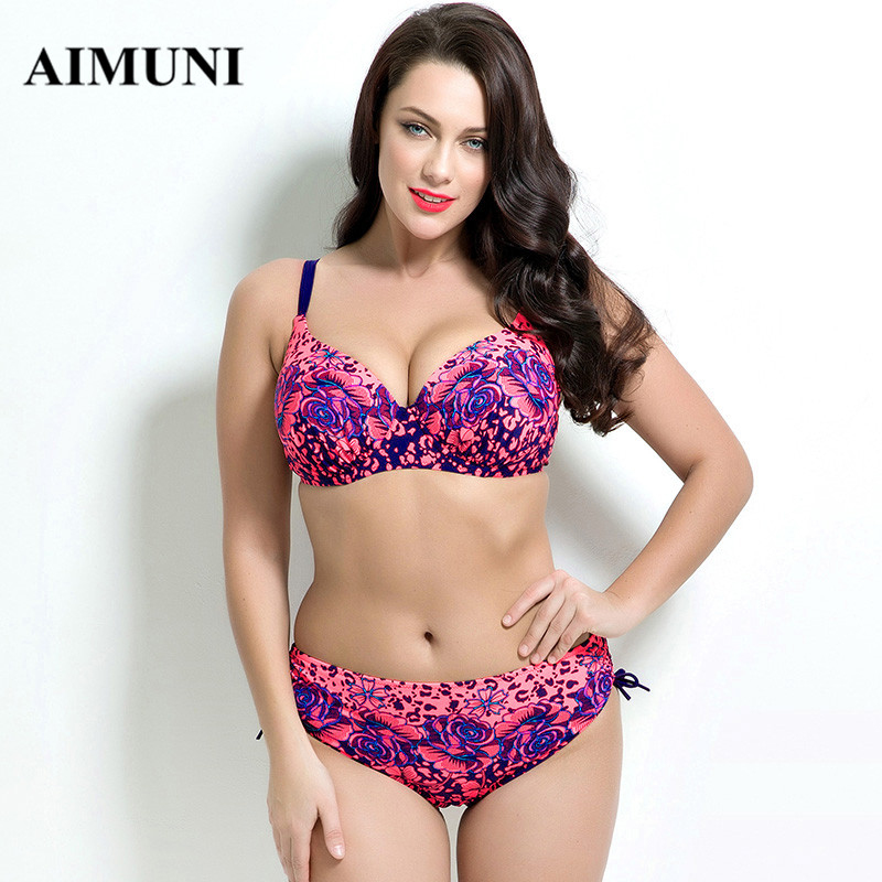2017 plus size bikini set Bathing Suit Push up bikinis women Large Cup Bikini set Women Swimwear Sexy plus size Swimsuit<br><br>Aliexpress