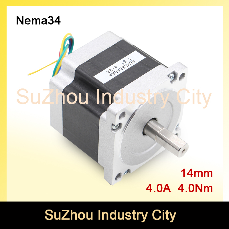 NEMA34 CNC stepper motor 86X80mm 4N.m 4A shaft 14mm nema34 for sale stepping motor 572Oz-in for CNC engraving machine 3D printer<br>