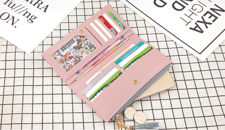 2018 Fashion Ladies Wallet Female Short Zipper Coin Purse Small Wallets Young Womens Tassel Hasp Purses Button Card Holder Pouch 94