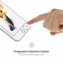 Fingerprint Home Button Sticker Aluminium Metal Round For iPhone SE 5S 6 6s 7 Plus Supporting Touch ID Button protection film