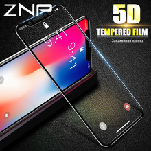 Buy ZNP 5D Full Curved Edge Screen Protector iPhone X 10 Full Cover Tempered Glass iPhone X 10 Protective Glass Film for $2.77 in AliExpress store