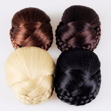 High Quality Braided Hair Bun Oval Chignon Roller Hairpieces Hair Accessories for Women HG190