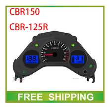 CBR150 CBR125R 125cc 150cc odomter street bike motorcycle speedometer double dual led LCD speedo meter instrument Free Shipping(China)