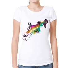 Funny Lamp Design Printed T-Shirt Women's Watercolor Butterfly T Shirt Summer High Quality Hipster Cool Short Sleeve Tops Tee
