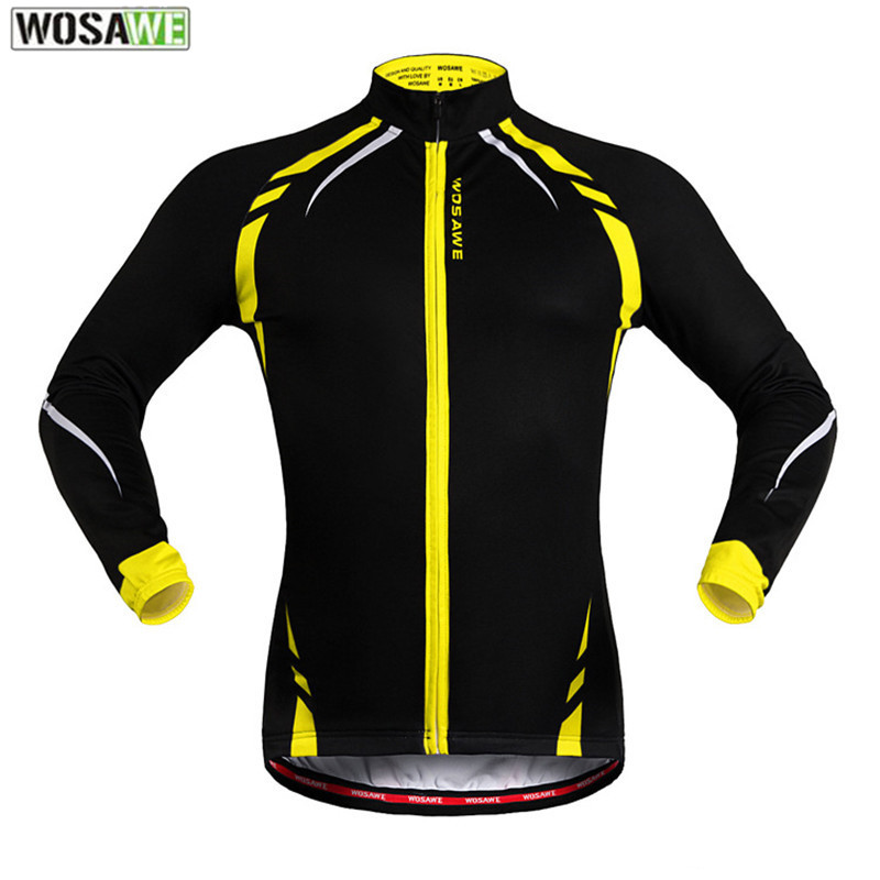 WOSAWE Ropa Ciclismo Invierno Winter Cycling Clothing Windproof Fleece Thermal Outdoor Sport Jacket Bike Bicycle Cycling Jersey<br>
