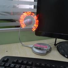 2016 Hot DIY LED Mini USB Fan Flexible USB Cooling Fan Cooler Programming Messages Characters Greetings for PC Laptop Notebook(China)
