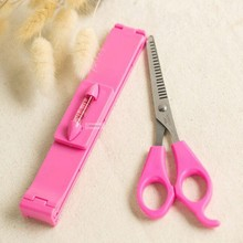 Hairdressing Scissors set-2015 New DIY Bangs cutting Thinning Scissors Hair styling With Ruler for home professional salon(China)