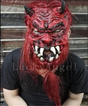Halloween horror maschere white red devils halloween scary mask Japan mardi gras high quality latex masks