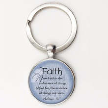 FAITH HEBREWS 11:1 Pendant Bible Quote Jewelry Scripture Pendant Faith Necklace Christian Gift for Christian Bible Verse Jewelry