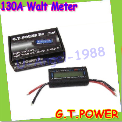 100% Brand New G.T.Power Watt Meter and Power Analyzer 130A 150A for rc model + free shipping<br><br>Aliexpress