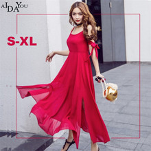 Summer Sexy Dress Women Red Beach backless big size Multiway Dresses off shoulder Robe mid calf Dress Wrap Vestidos ouc885(China)