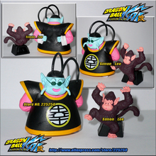 Japanese Anime DRAGONBALL Dragon Ball Z/Kai Genuine Original BANDAI Gashapon PVC Toys Figure HG 19 North Kai & Bubbles