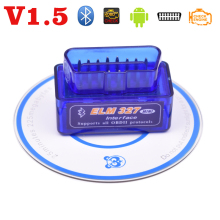 V1.5 ELM327 OBD2 Mini OBDII Bluetooth Car Code Reader Scanner Adapter Check Engine Light Torque interface for Android