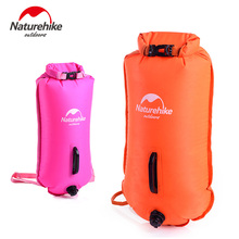 Naturehike Outdoor Double-balloon Waterproof Inflatable Bag Snorkeling Swimming Bag 2 Colors Drifting Storage Bag