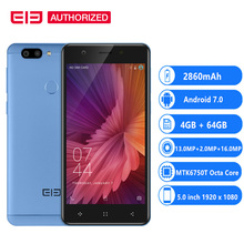 Elephone P8 MINI 4G MTK6750T Octa Core Android 7.0 Smartphone 4GB+64GB 5.0 inch FHD Cellphone 16MP Fingerprint OTG Mobile Phone(China)