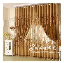 Modern Fashion High Quality Window Screening Curtain Finished Product Window Curtains Without Blackout Lining Curtain Burnout(China)