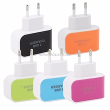 Triple USB Port Wall Home Travel AC Power Charger Adapter EU Plug For Phone Pad #R179T# Drop shipping