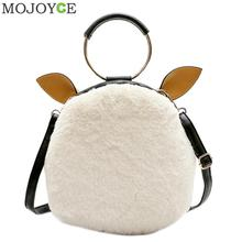 Korean Cute Women Plush Shoulder Bag Winter Soft Girl Messenger Bag Square Crossbody Bags Handbag Luxury Design Party Handbag(China)