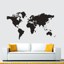 Creative World Map Wall Sticker For Kids Rooms Vinyl Wall Art Decals Office Poster Living Room Wall Stickers Home Decoration