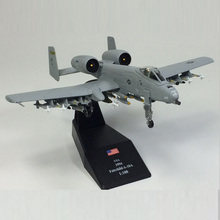 Amer World War II USA Fairchild A-10A Thunderbolt Jet Aircraft 1/100 Finished Alloy Model Toy For Collect Gift