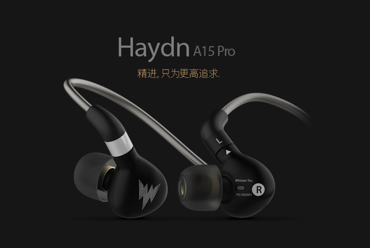 Newest Whizzer Haydn A15 Pro A15pro In Ear Earphone HIFI Metal Earphone Headset Balanced Sound With MMCX Dedicated Cable Black