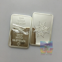 5pcs/set Germany Battle Plane Challenge Iron Plated Silver Bullion Bar German Der Rote Baron Replica Proof Bars