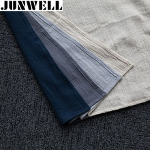 Junwell 4pcs/lot 45x60cm Linen/ Cotton Dishtowel Kitchen Towel Dish Towel Cleaning Cloth Tea Towel Ultra durable pano