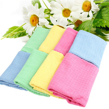 4pc/lot Valuable Anti-grease Dish Cloth Washing Towel Kitchen Cleaning Wiping Rags pano de prato chiffon microfibres Cloth(China)