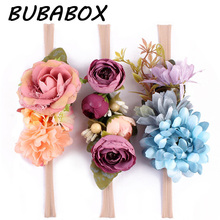 Buy 3 Pcs/Lot Newborn Flower Headband Nylon Faux Flower Party Flowers Hair Bands Newborn Headwear Photography Props Hair Accessories for $4.22 in AliExpress store