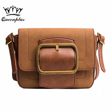 2017 Women bag female Fashion winter small package scrub small square buckle package shoulder Messenger bag Bolsa feminina(China)