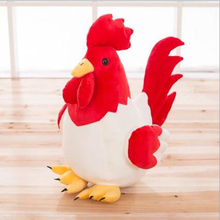 New child plush toy cute baby chicken cock handmade pillow 25cm 2017 zodiac chicken plush toy doll child gift wholesale w54