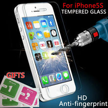 On Sale 0.3mm 2.5D 9H Premium Tempered Glass film For iphone 4 4s 5 5s 6 6plus Cell pone Anti-shatter LCD Screen Protector Films