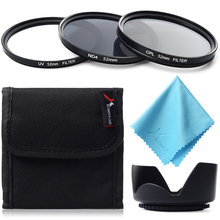 Lens Filter 52mm UV+CPL+ND4+Lens Hood Filter Set Circular Polarizer Protective For Canon/Nikon D5300 D5200 D3300 D3200 LF281+