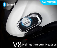Easy Rider Vimoto Brand V8 Multi-functional Motorbike BT Interphone Motorcycle Helmet Intercom Bluetooth Headset(China)